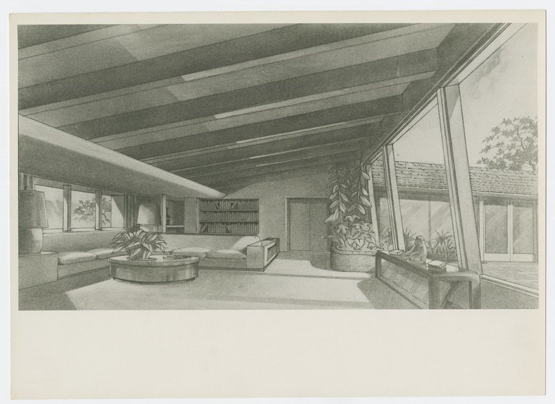 """Cliff May: """"Pace-Setter"""" model house (Brentwood, Calif.)"""