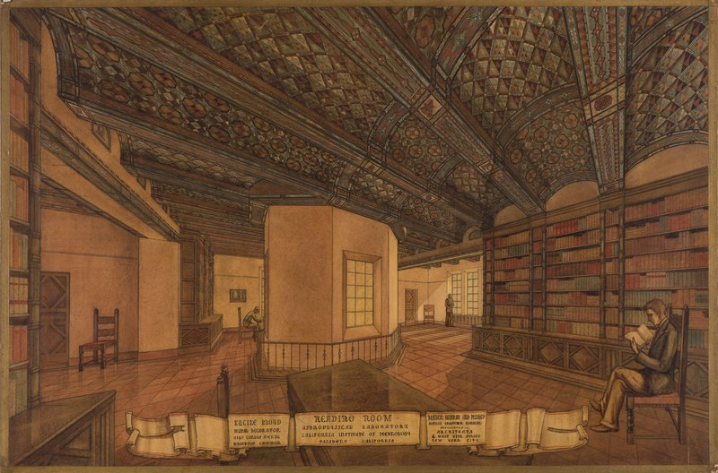 Lucile Lloyd: Study for stenciled ceiling, Henry M. Robinson Astrophysics Library (Pasadena, Calif.)