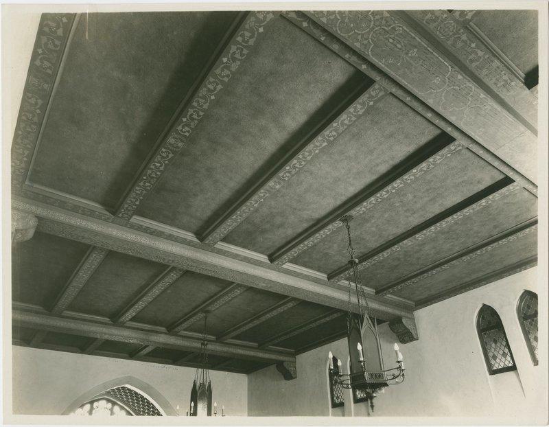 Lucile Lloyd: Stenciled ceiling, First Methodist Episcopal Church (Santa Ana, Calif.)
