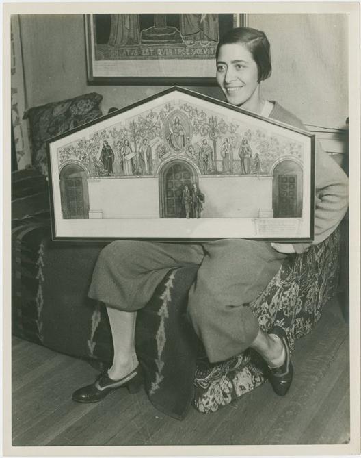 Lucile Lloyd: proposed mural decoration for the Ojai Presbyterian Church (Ojai, Calif.)