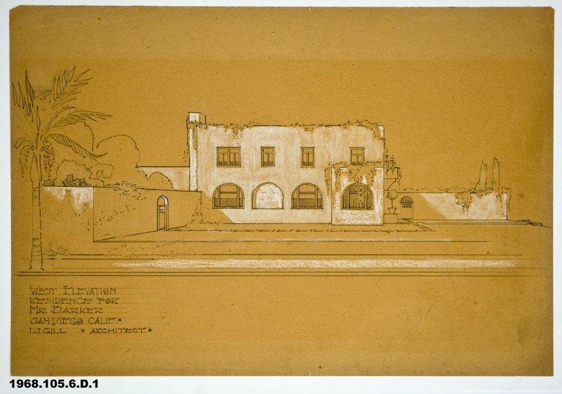 Irving J. Gill: Barker house (San Diego, Calif.)