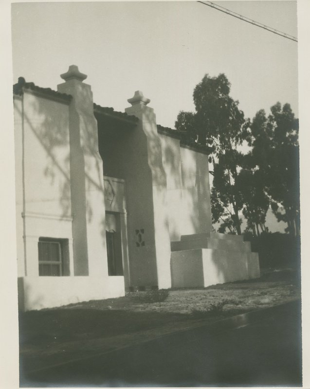 Santa Barbara State Teachers College -- Ebbets Hall northeast entrance