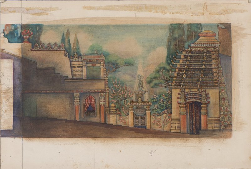 Lucile Lloyd: Study for a theater side wall mural