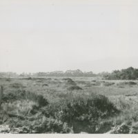 World War II Marine base and future site of the UC Santa Barbara campus: view of water tower