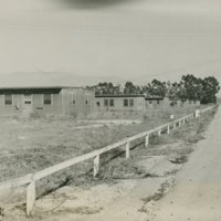World War II Marine base and future site of the UC Santa Barbara campus: view of buildings