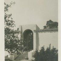 Santa Barbara State Teachers College -- Ebbets Hall archway to loggia
