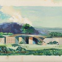 Miles C. Bates house: rendering
