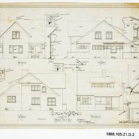 Irving J. Gill: Cositt house elevations (Coronado, Calif.)
