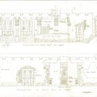 Aztec Hotel: Lobby elevation drawings